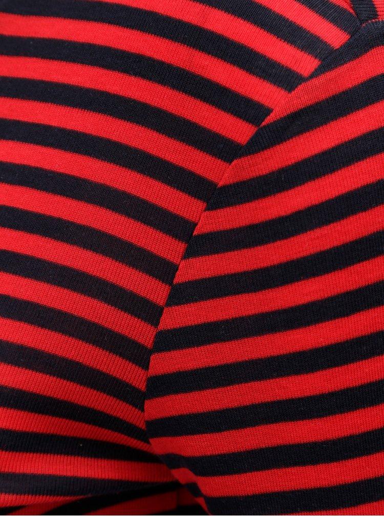 Modro-červené pruhované tričko VERO MODA Ita