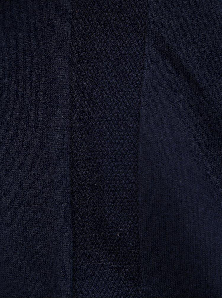 Tmavě modrý basic svetr s kulatým výstřihem Burton Menswear London