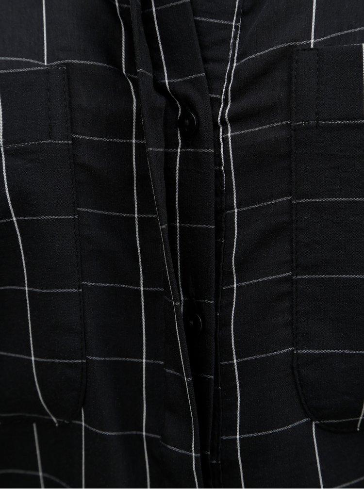 Černá vzorovaná halenka VERO MODA Erika