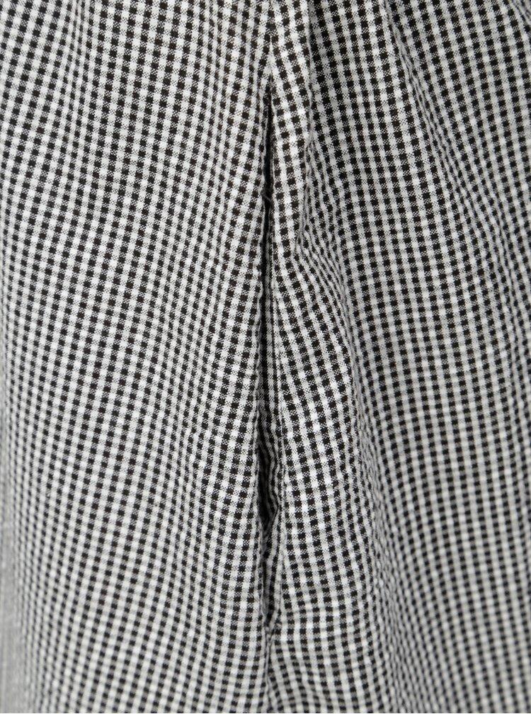 Bílo-černé kostkované midišaty Moss Copenhagen