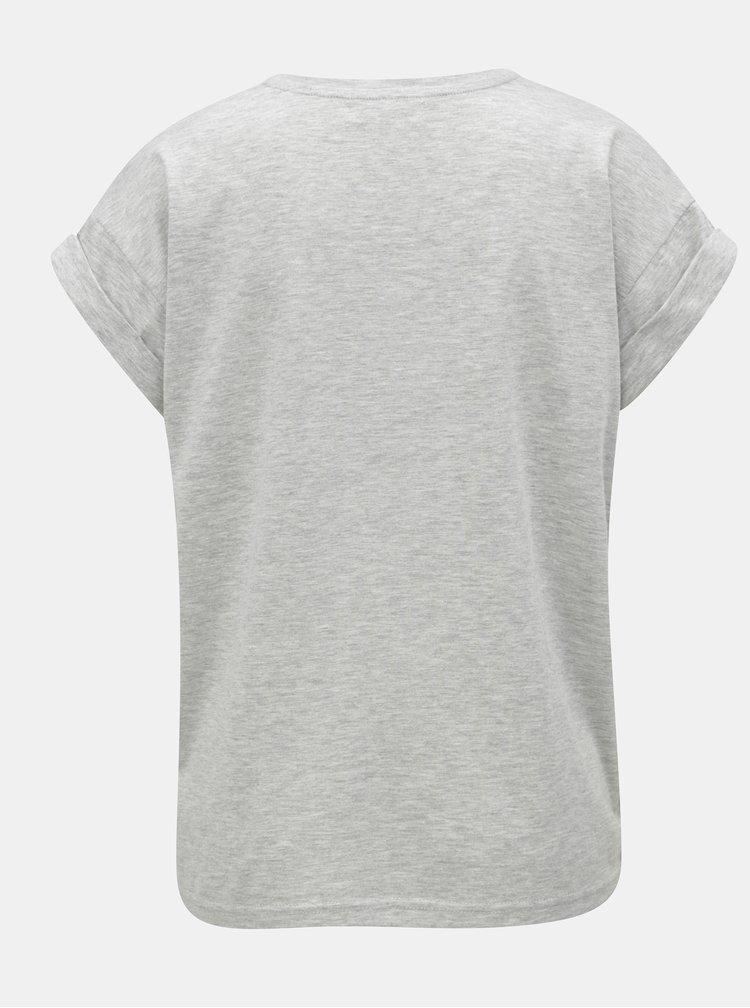 Tricou oversize gri melanj Moss Copenhagen