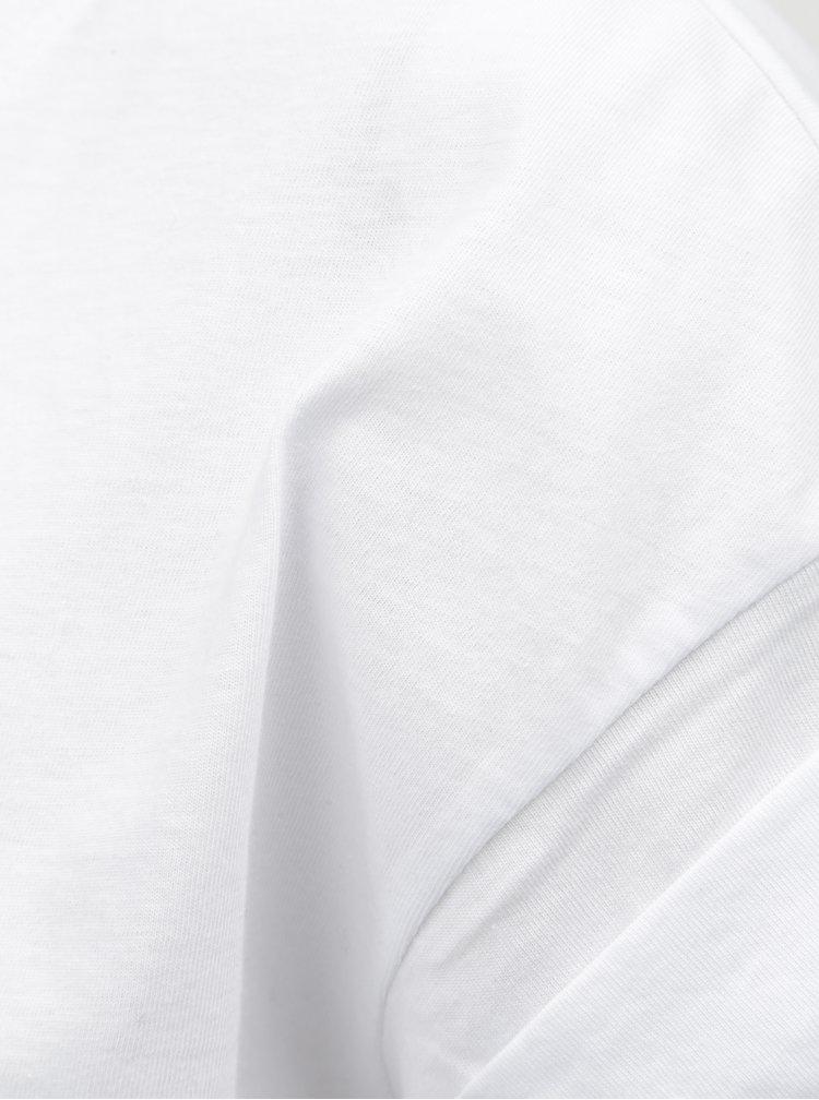 Biele oversize tričko Moss Copenhagen