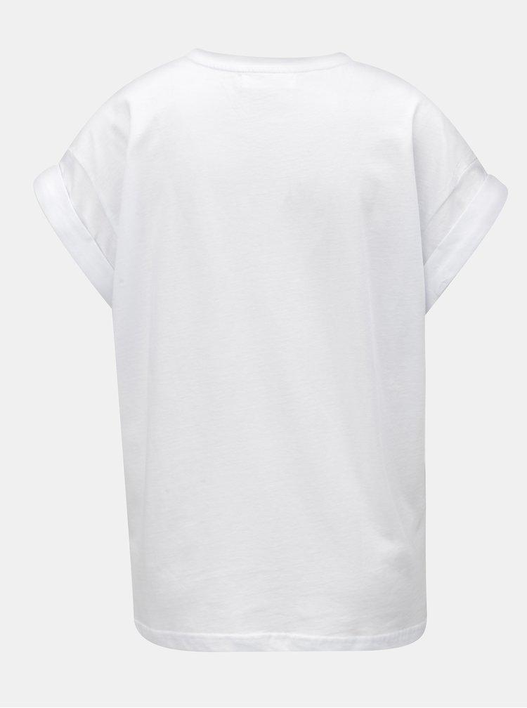 Bílé oversize tričko Moss Copenhagen