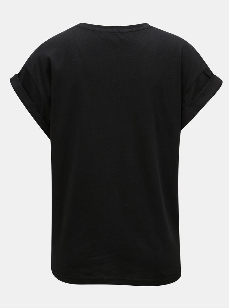 Čierne oversize basic tričko Moss Copenhagen