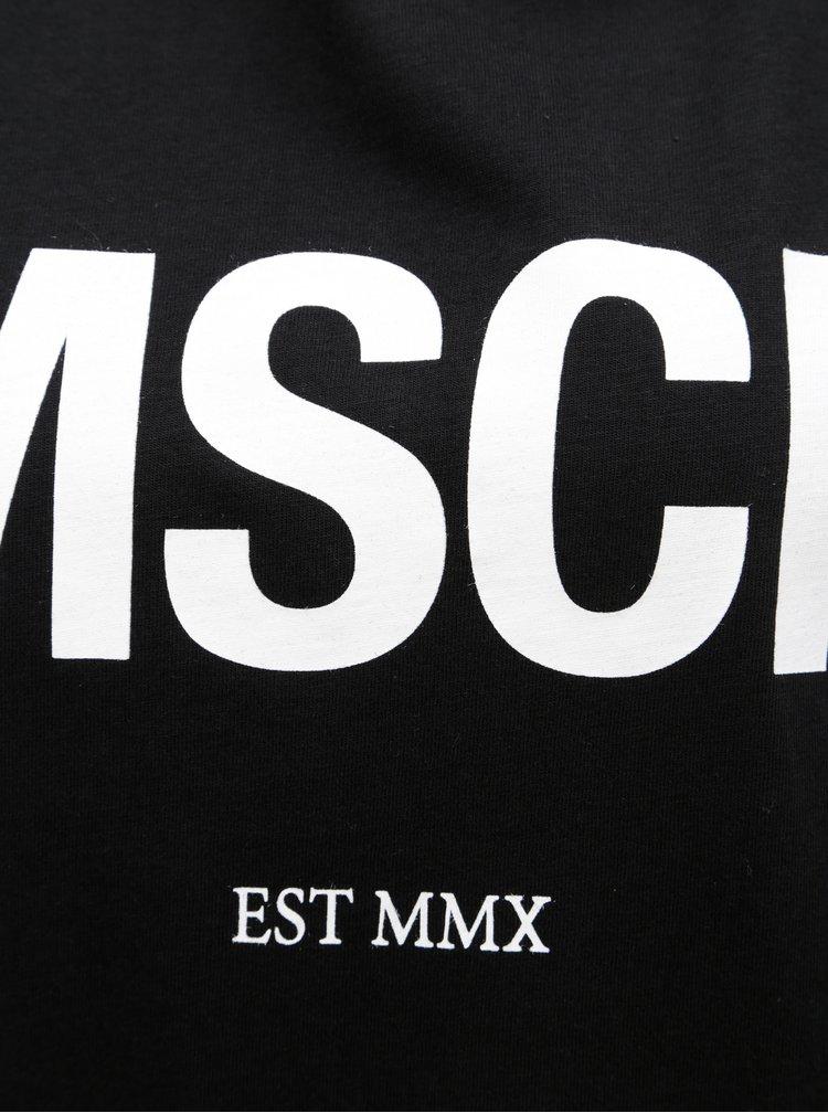 Černé oversize tričko s potiskem Moss Copenhagen