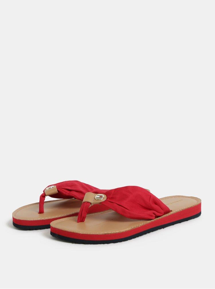 Červené dámské žabky Tommy Hilfiger