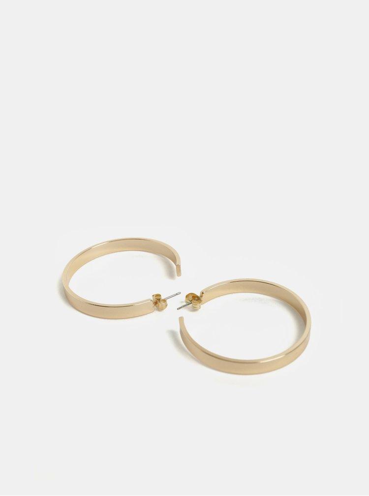 Kruhové náušnice ve zlaté barvě Pieces Jodi