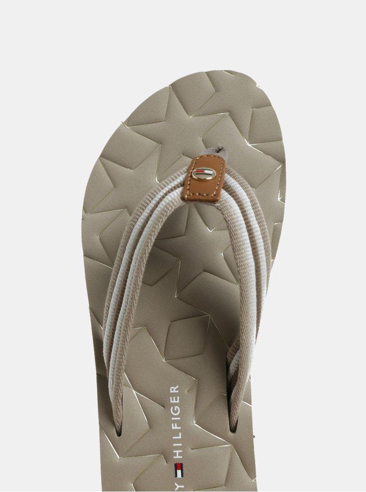 Béžové dámské žabky Tommy Hilfiger