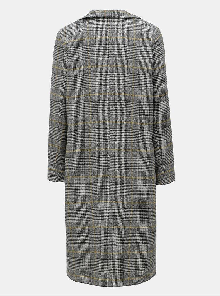 Bílo-šedý kostkovaný kabát Noisy May