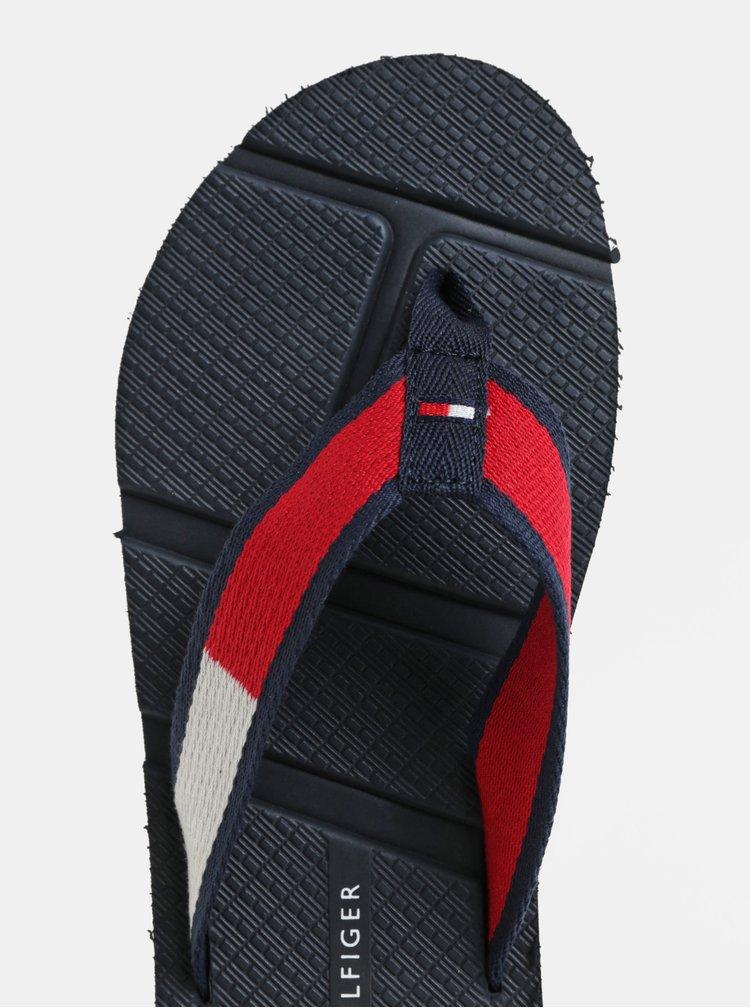 Červeno-modré pánské žabky Tommy Hilfiger