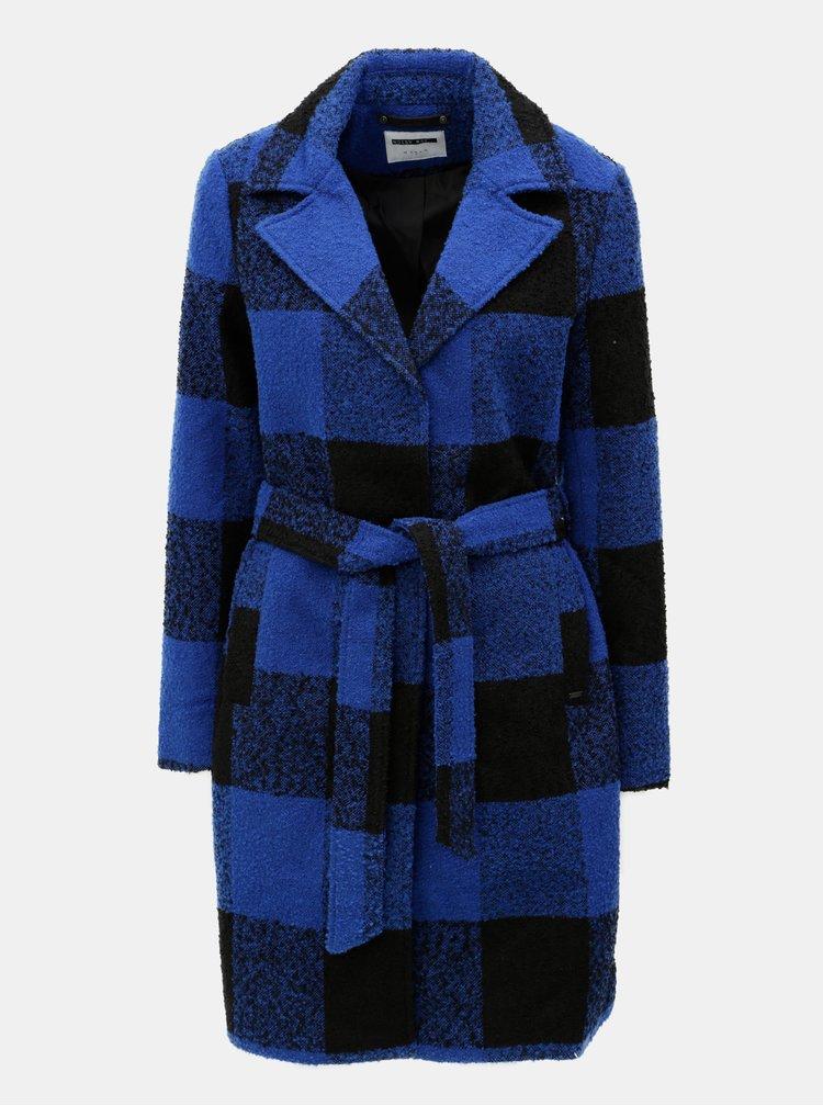 Čierno–modrý kockovaný kabát Noisy May