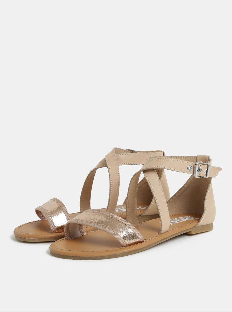 Růžové dámské kožené sandály Tommy Hilfiger