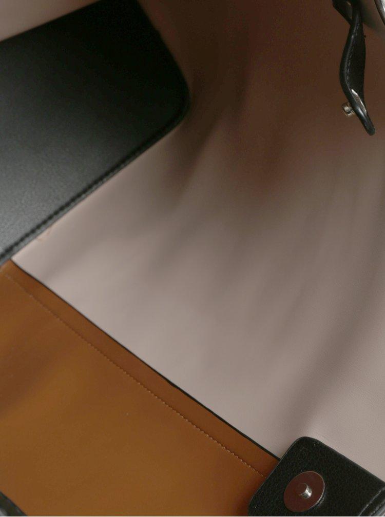 Béžovo-hnědý shopper s odnímatelným pouzdrem Pieces Fareen