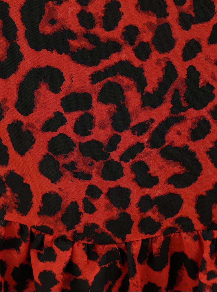 Čierno–červený vzorovaný top Noisy May