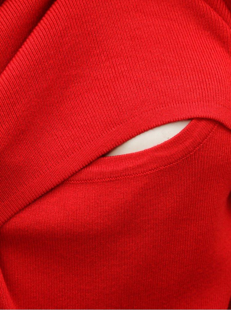 Červené pouzdrové kojicí šaty Mama.licious