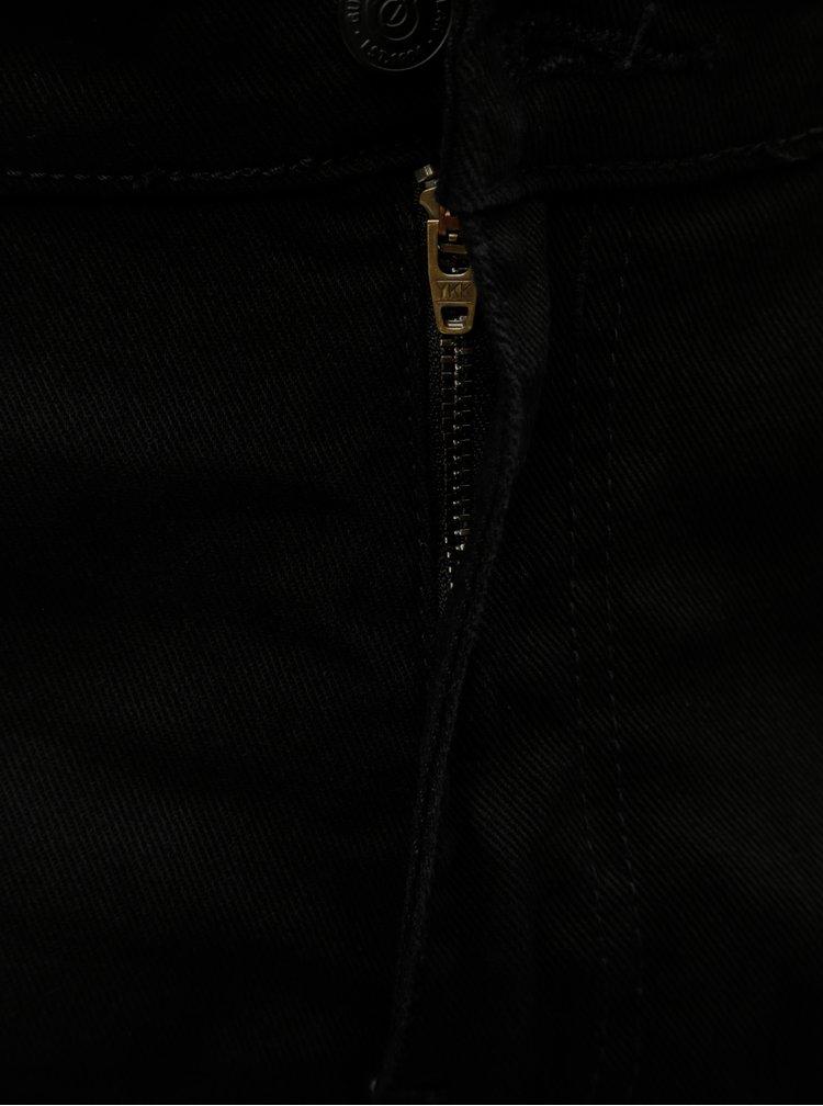 Černé tapered fit džíny Burton Menswear London