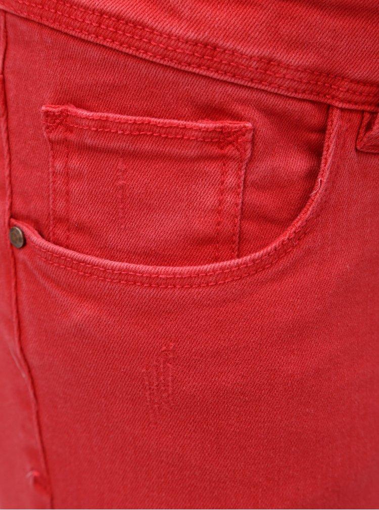 Červené těhotenské slim fit džíny Mama.licious