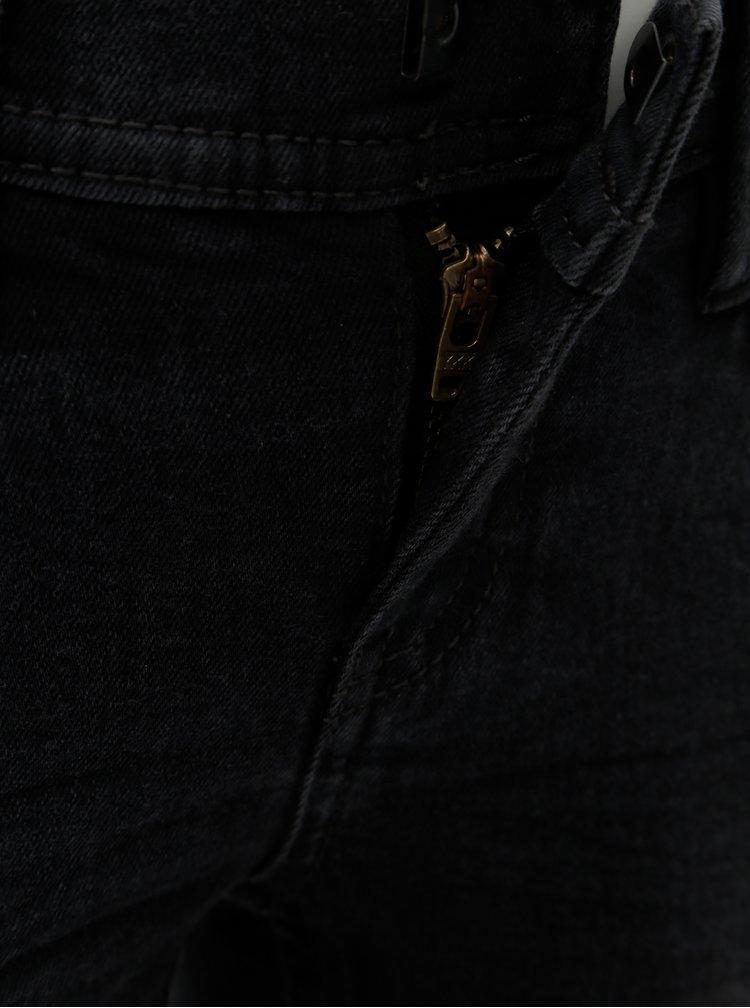Tmavě šedé klučičí slim fit džíny Name it