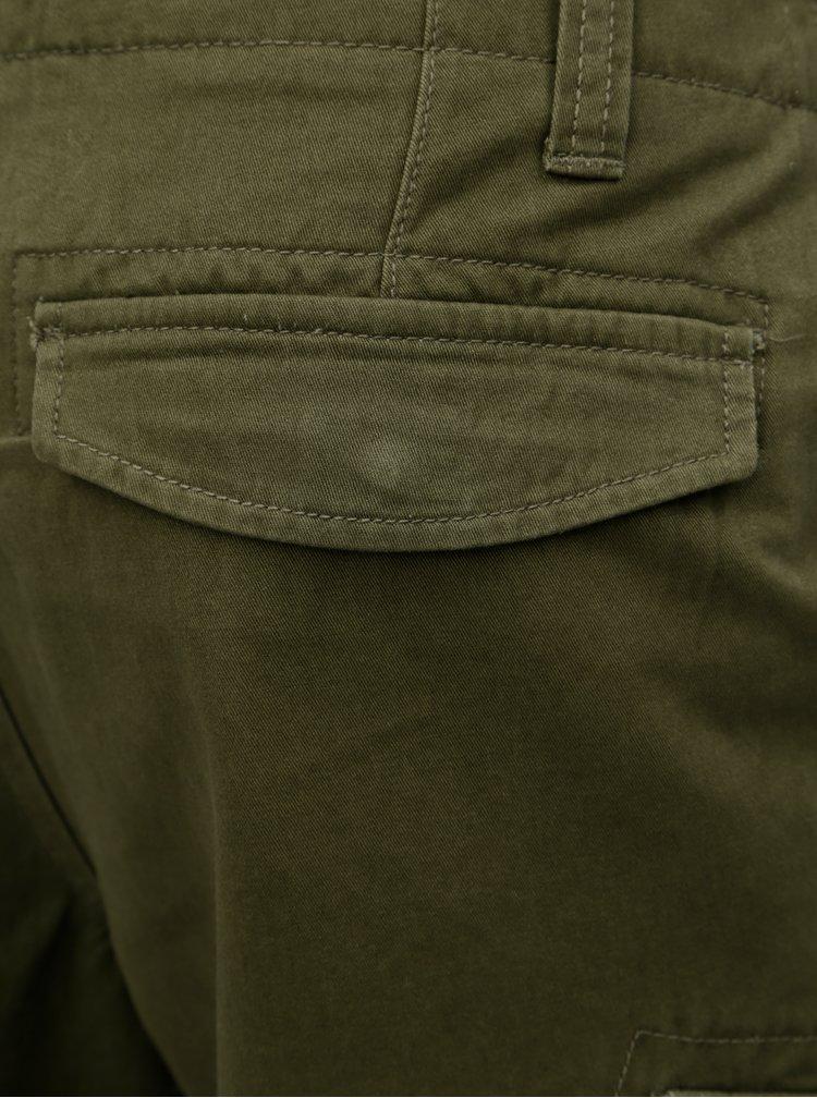 Khaki kraťasy s kapsami na nohavicích Burton Menswear London