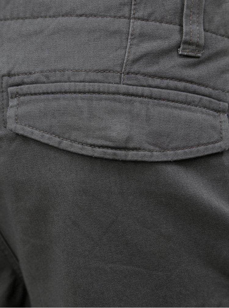 Pantaloni scurti gri inchis cu buzunare pe picioare Burton Menswear London