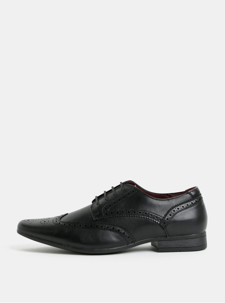 Černé polobotky brogue Burton Menswear London