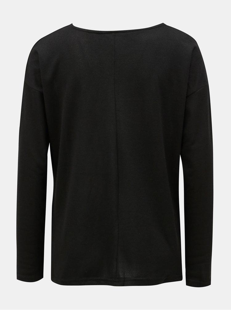 Čierny sveter s dlhým rukávom ONLY Elcos