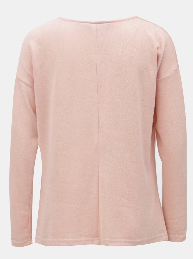 Růžový svetr s dlouhým rukávem ONLY Elcos