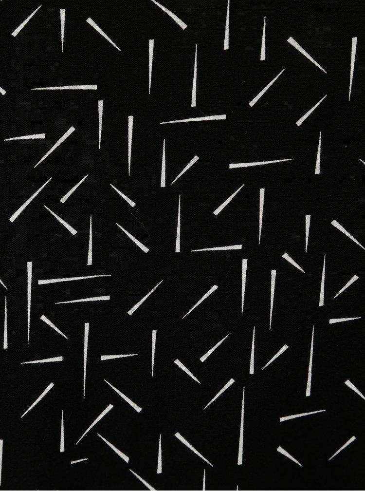 Čierna vzorovaná blúzka Jacqueline de Yong Esther
