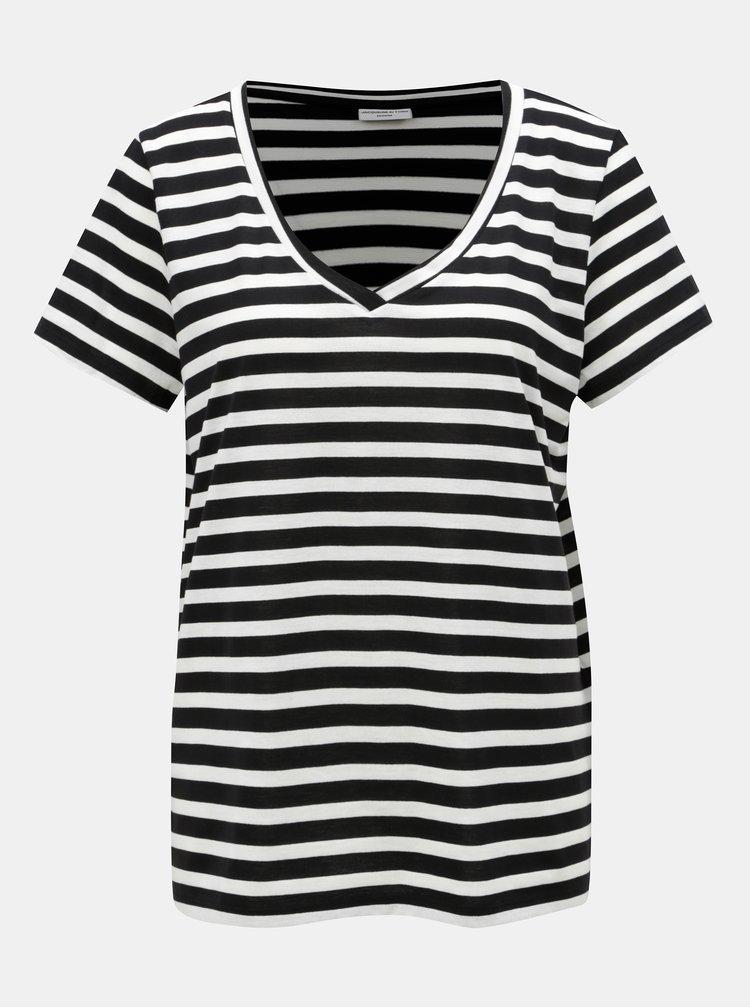 Tricou alb-negru in dungi Jacqueline de Yong Cloudy