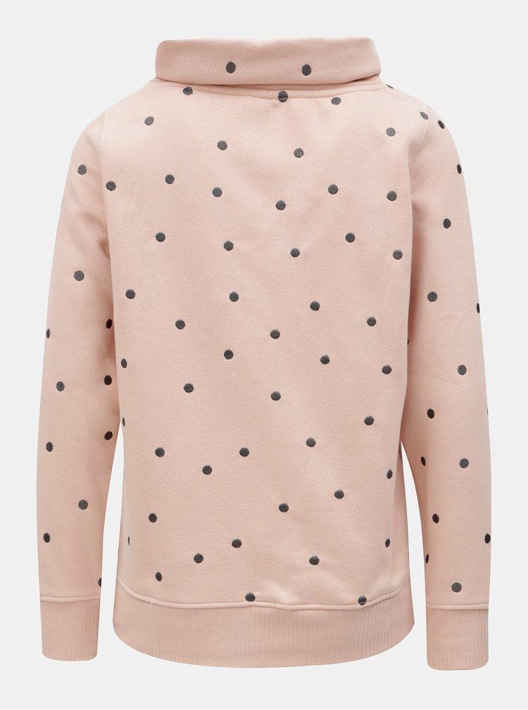 Bluza sport roz cu broderie si guler ONLY Lisa