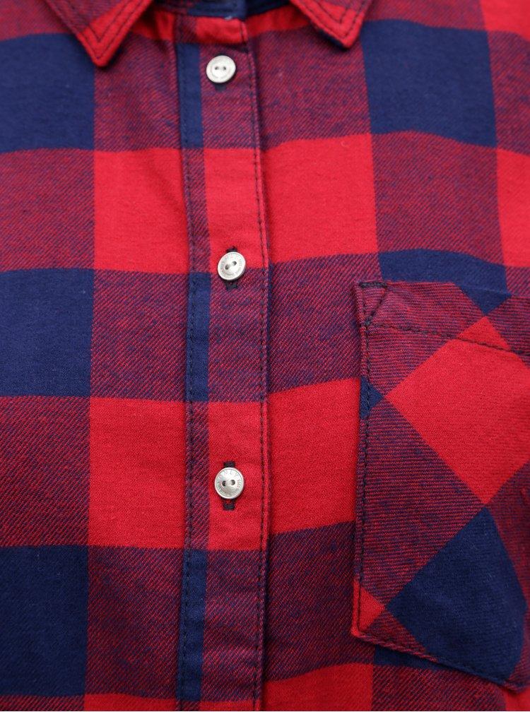 Modro-červená kostkovaná košile ONLY Rock