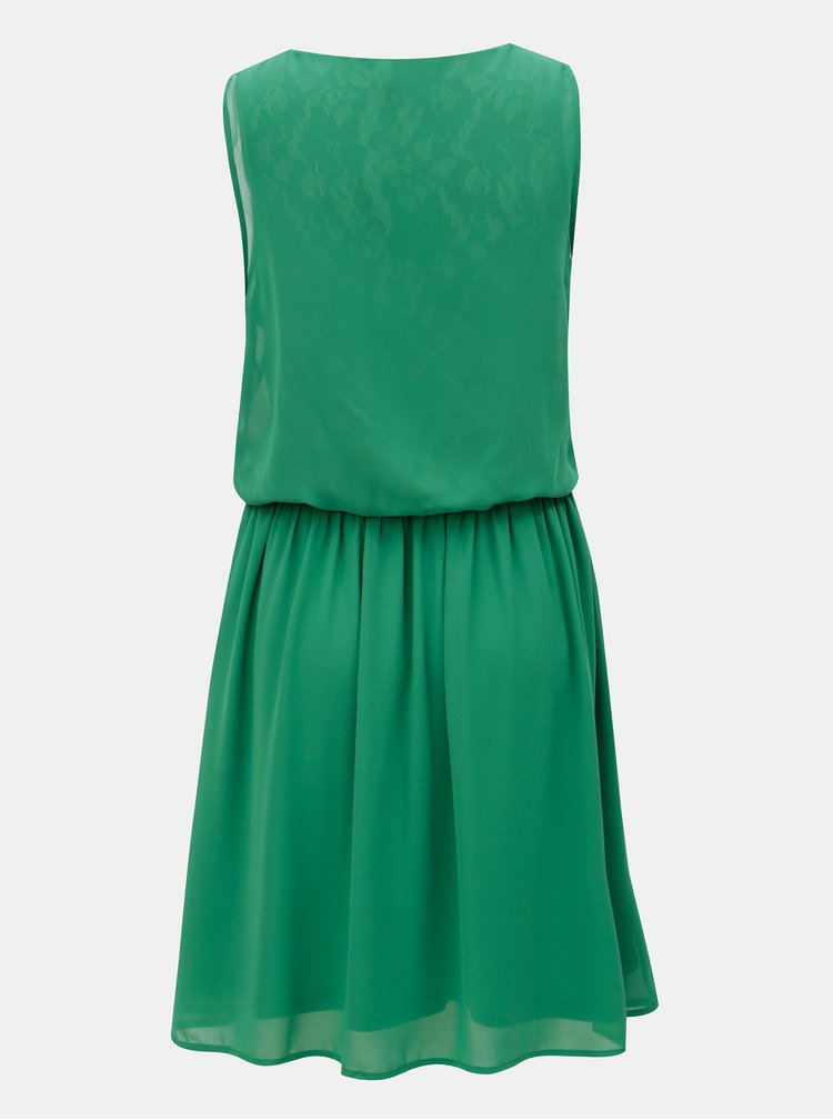 Zelené šaty s gumou v pase VERO MODA