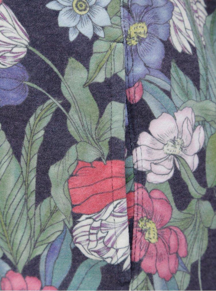 Modrá květovaná mikina ONLY Jalene
