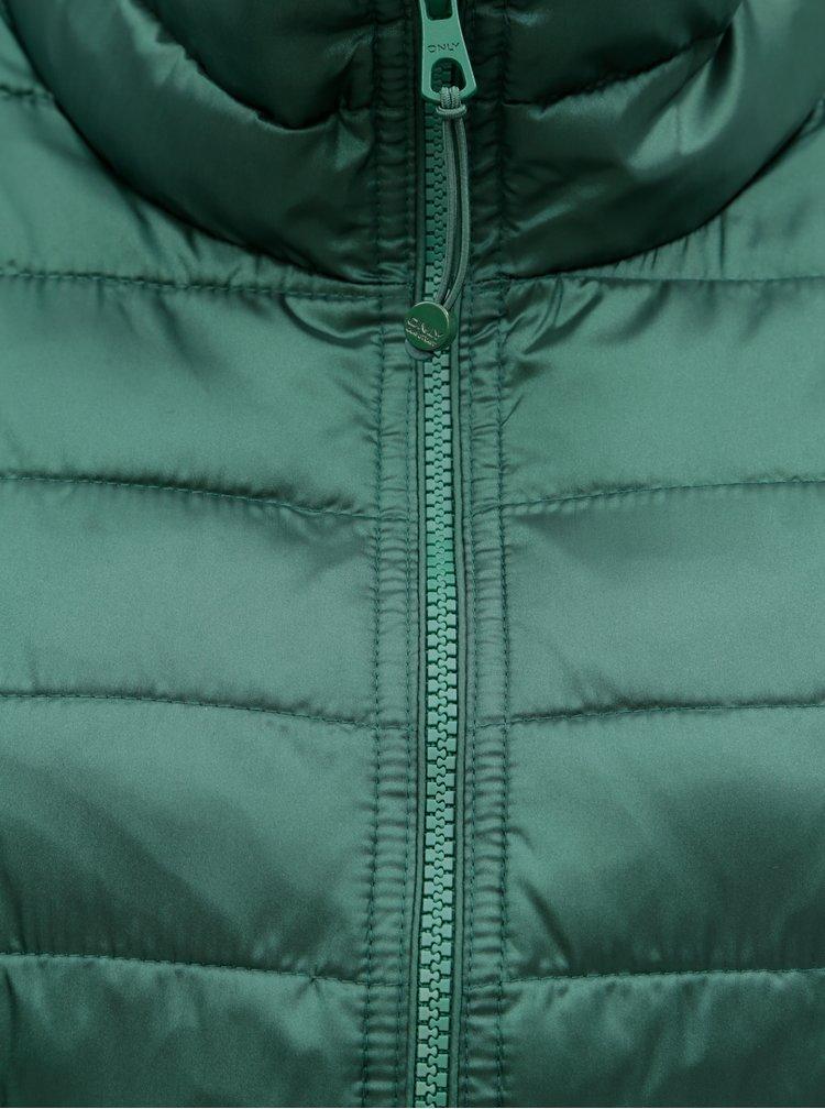 Zelená prešívaná bunda ONLY Tahoe