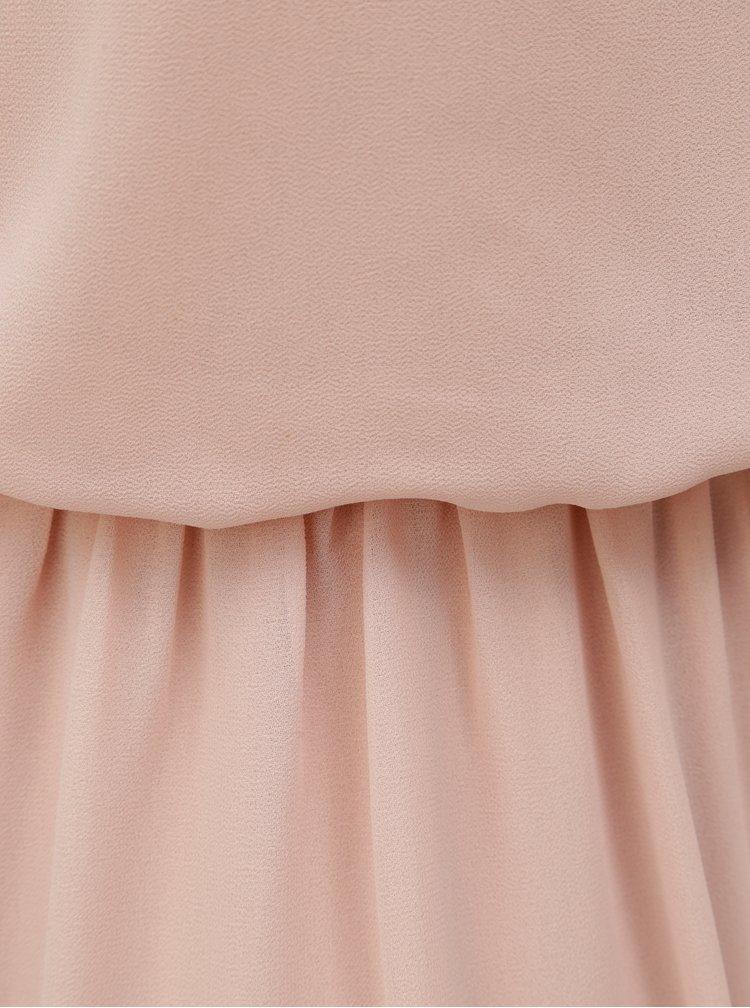 Rochie roz prafuit cu banda elastica in talie VERO MODA