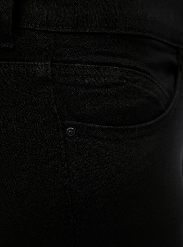 Černé skinny fit džíny s vysokým pasem ONLY