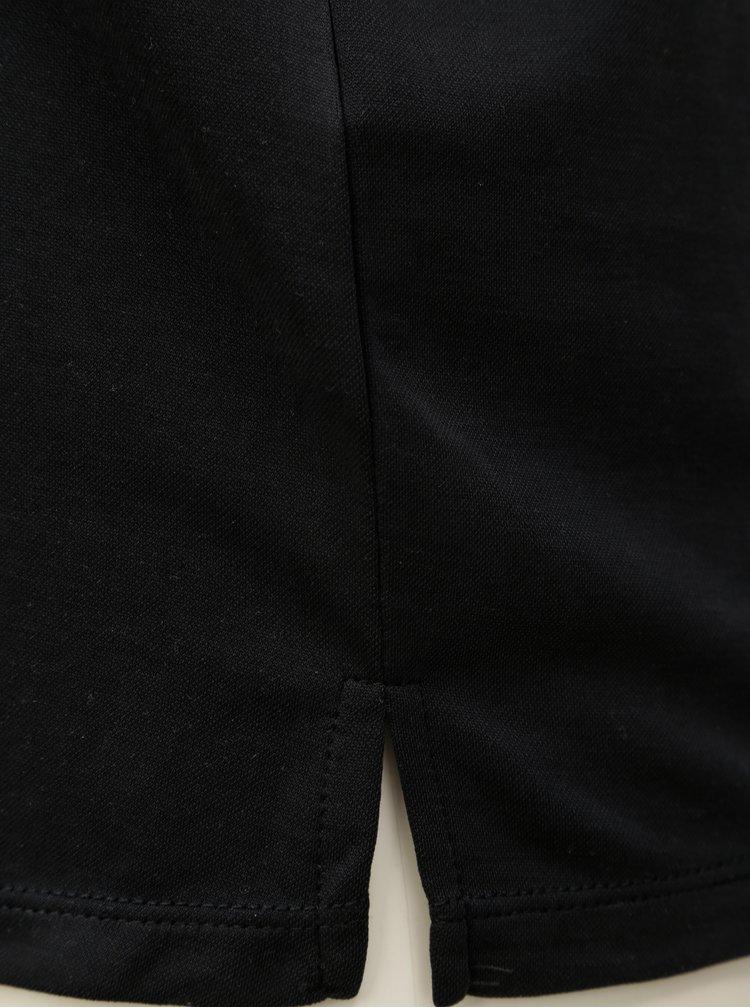 Bluza lejera neagra cu aplicatie decorativa pe decolteu VERO MODA
