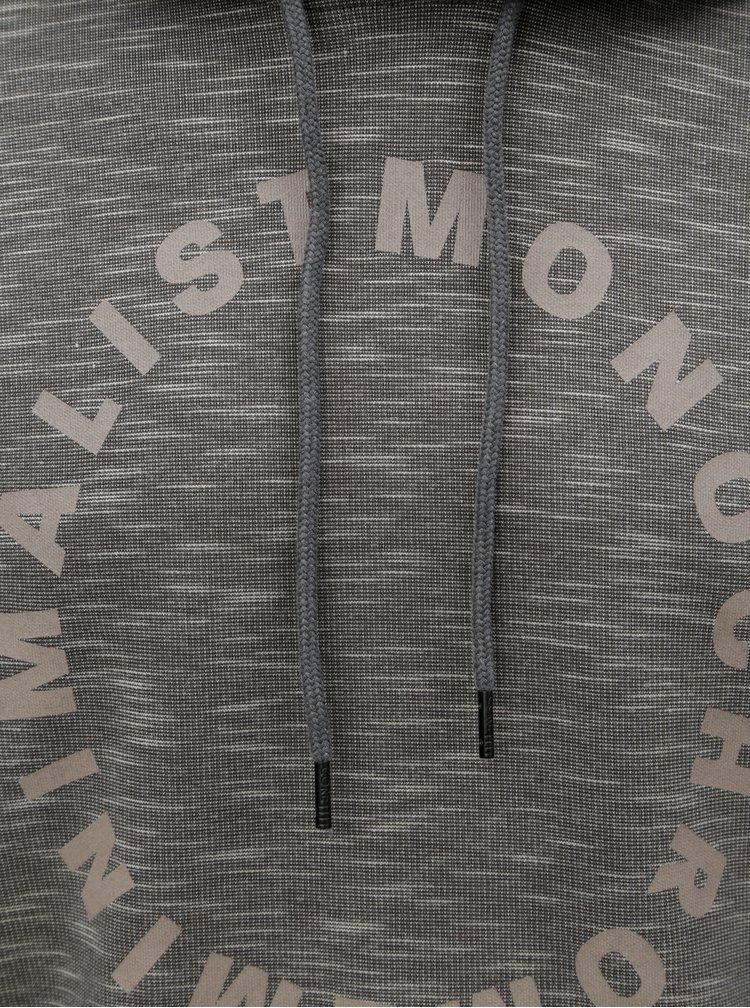 Tmavě šedá žíhaná mikina s potiskem Jack & Jones Gel