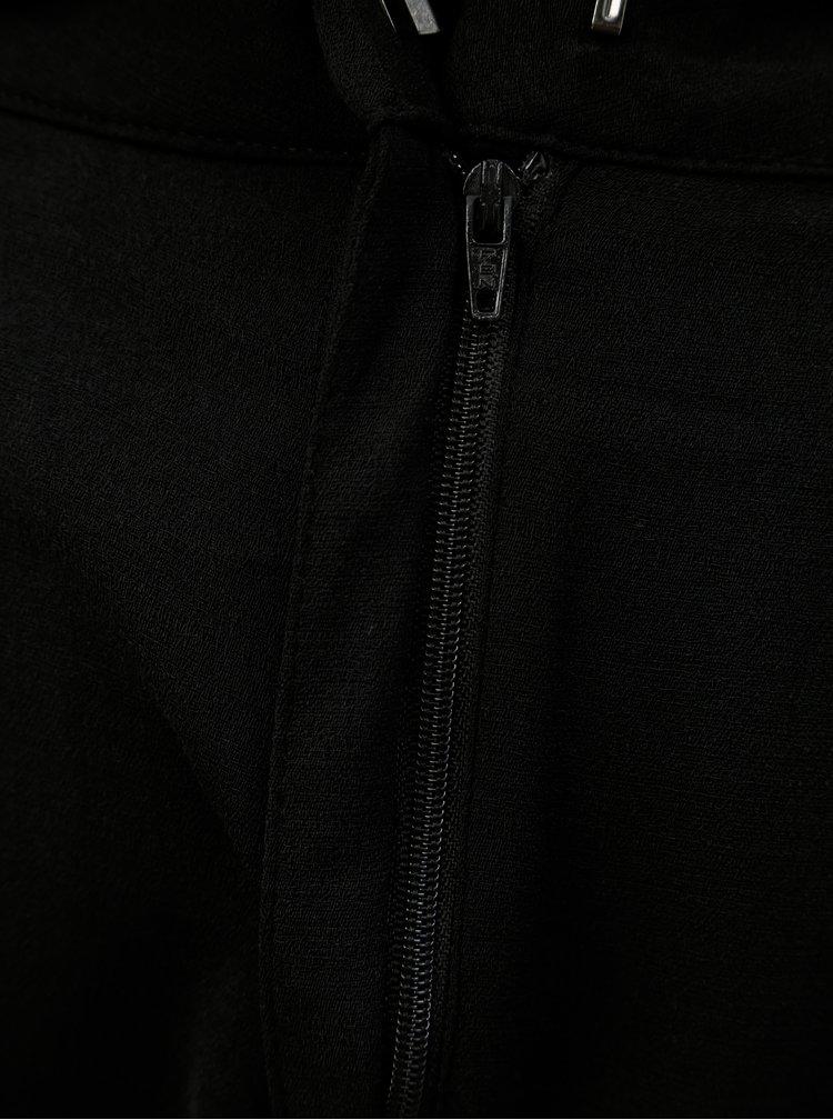 Černé volné kalhoty s vysokým pasem a páskem Jacqueline de Yong Enzo