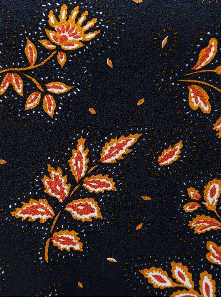 Oranžovo-modrá vzorovaná halenka VERO MODA