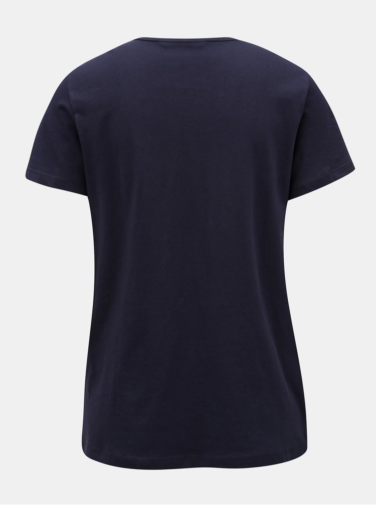 Tmavě modré tričko s výšivkou VERO MODA