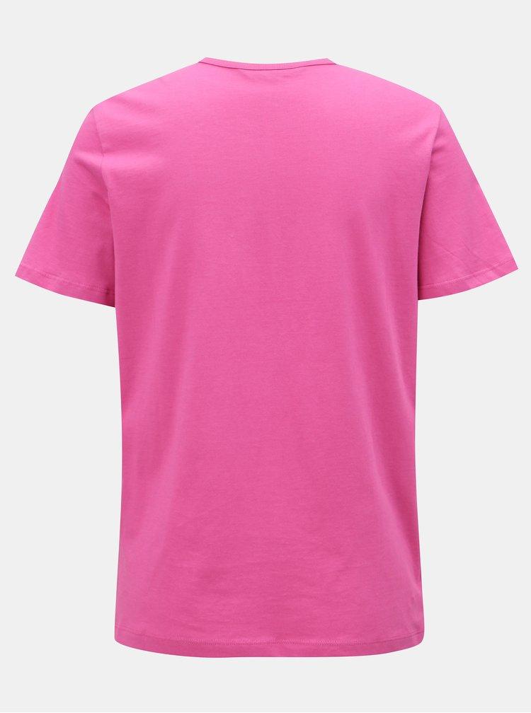 Tricou roz cu broderie VERO MODA