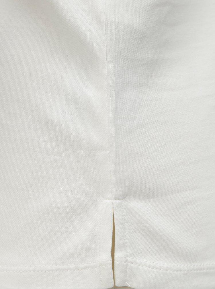 Bílá volná halenka s ozdobnou aplikací ve výstřihu VERO MODA