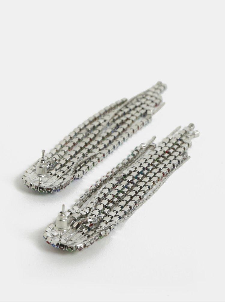 Náušnice ve stříbrné barvě s třásněmi ONLY Dimla