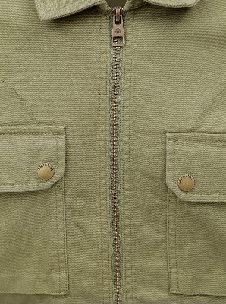 Khaki bunda s kapsami ONLY & SONS Adler