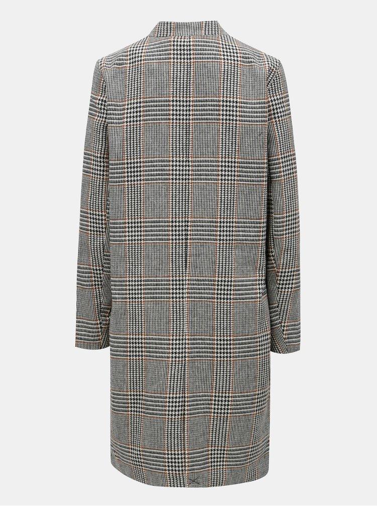 Béžovo-černý vzorovaný kabát ONLY Helen