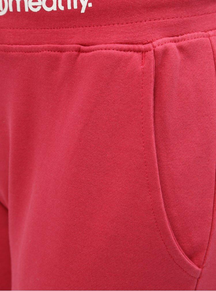 Růžové dámské basic tepláky Meatfly