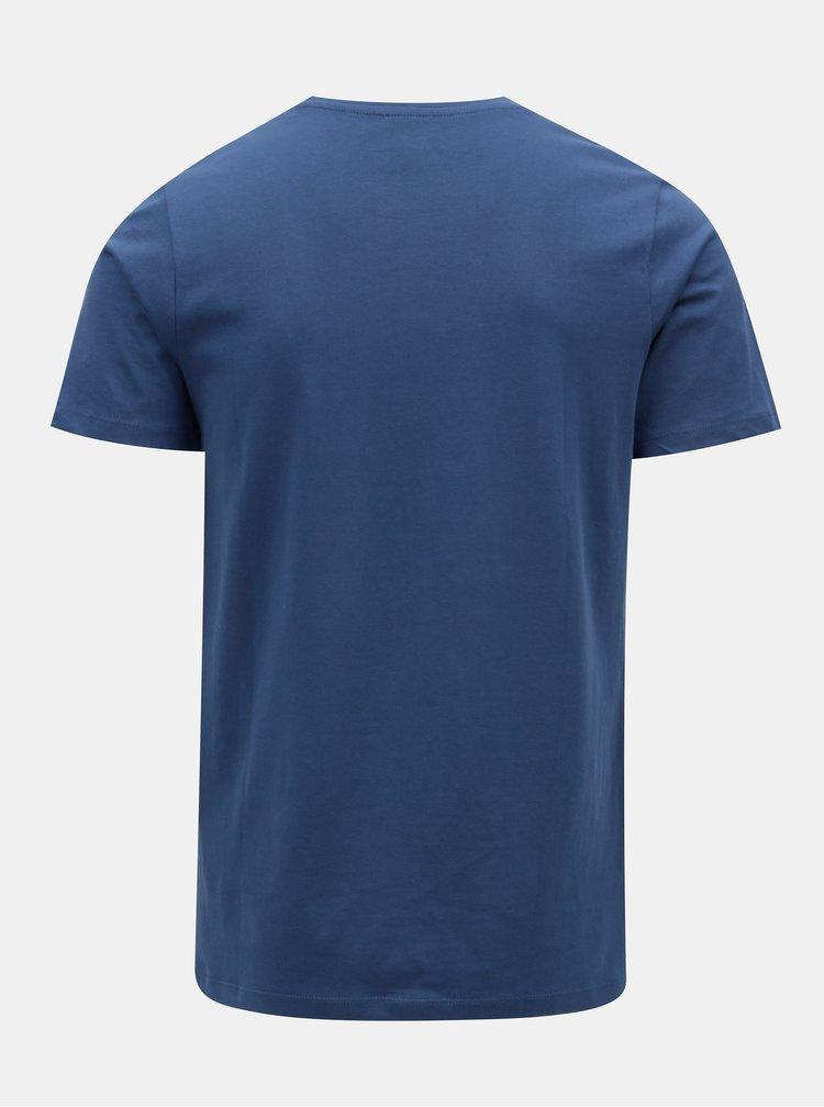 Tricou albastru inchis cu maneci scurte Jack & Jones Rail Road