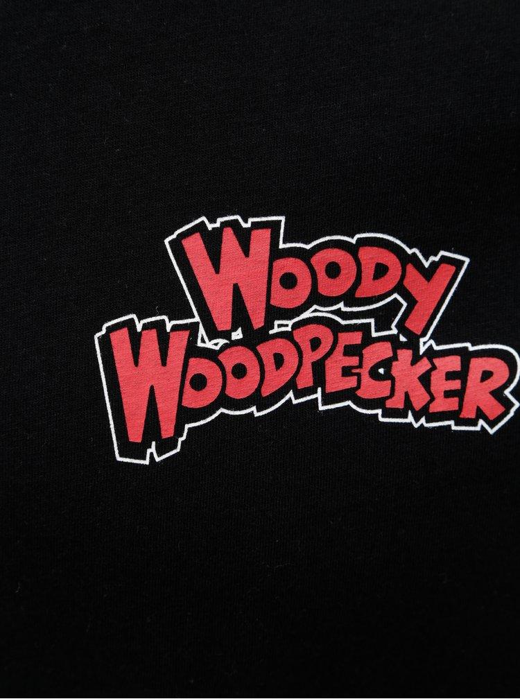 Černé tričko s potiskem na zádech ONLY & SONS Woodpecker