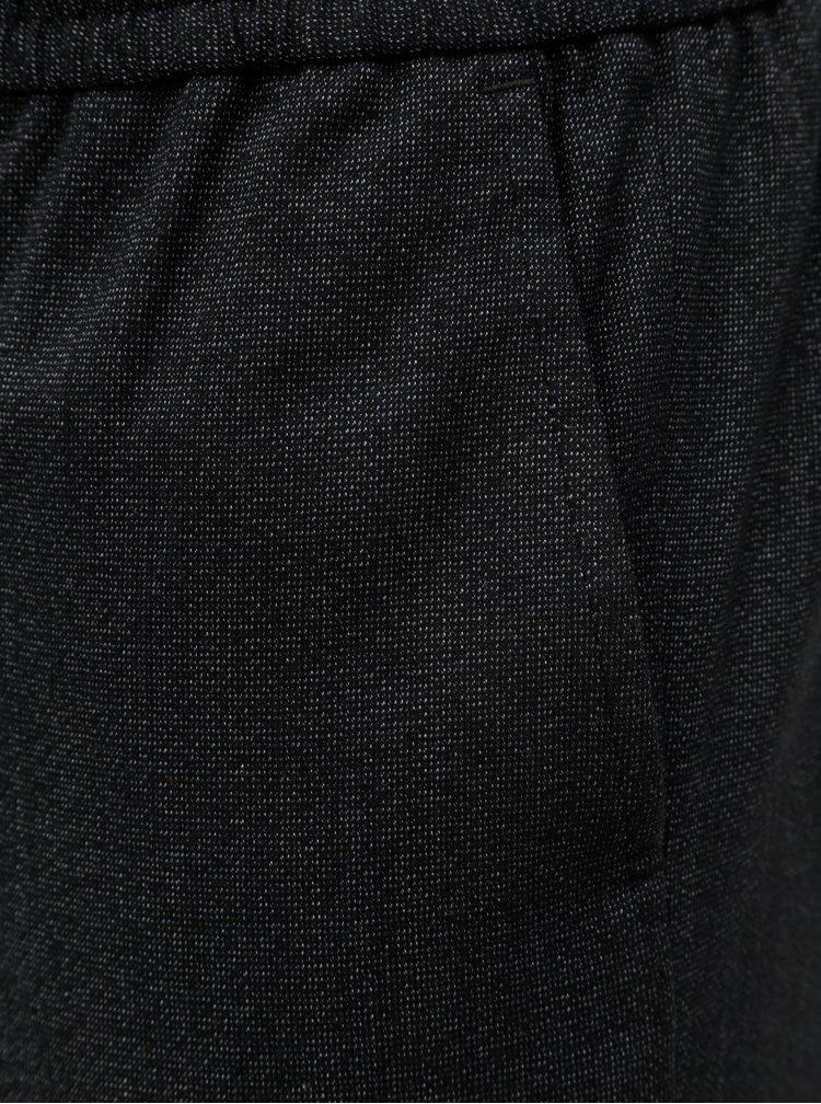 Černé kalhoty s elastickým pasem Selected Homme